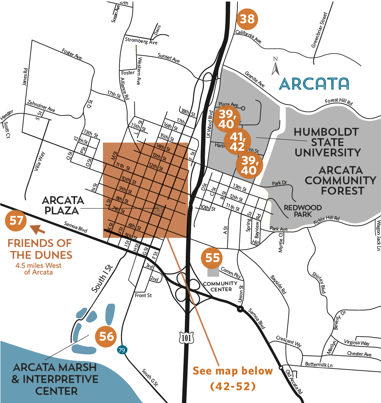 List of Locations - Arcata