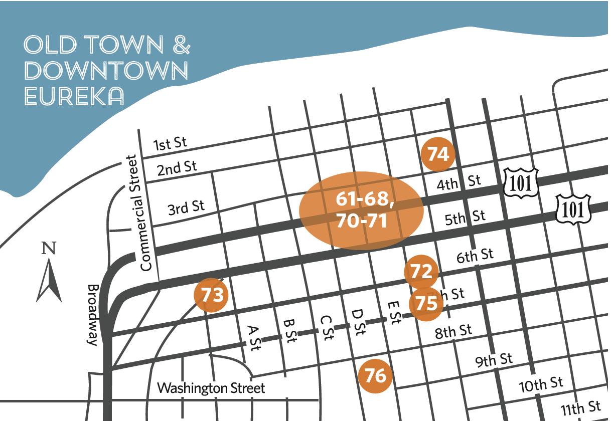 Location map - Eureka Downtown
