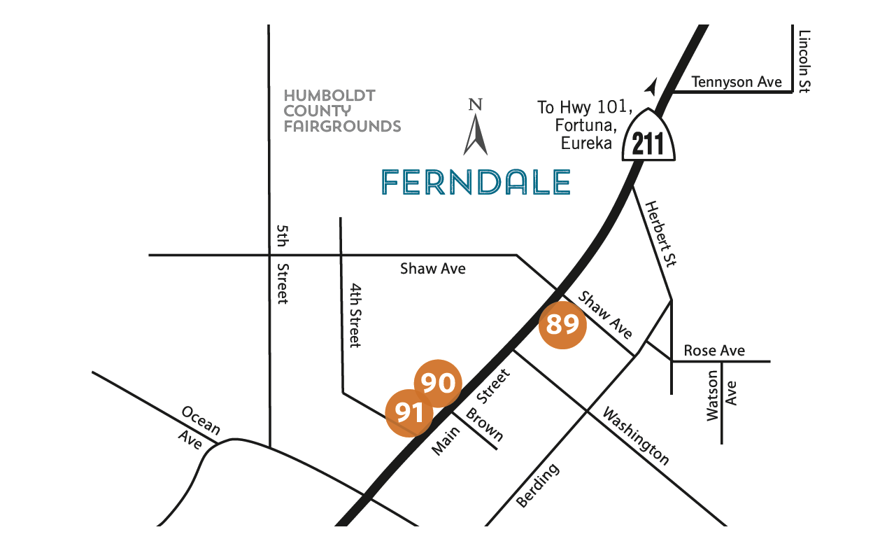 List of locations - Ferndale