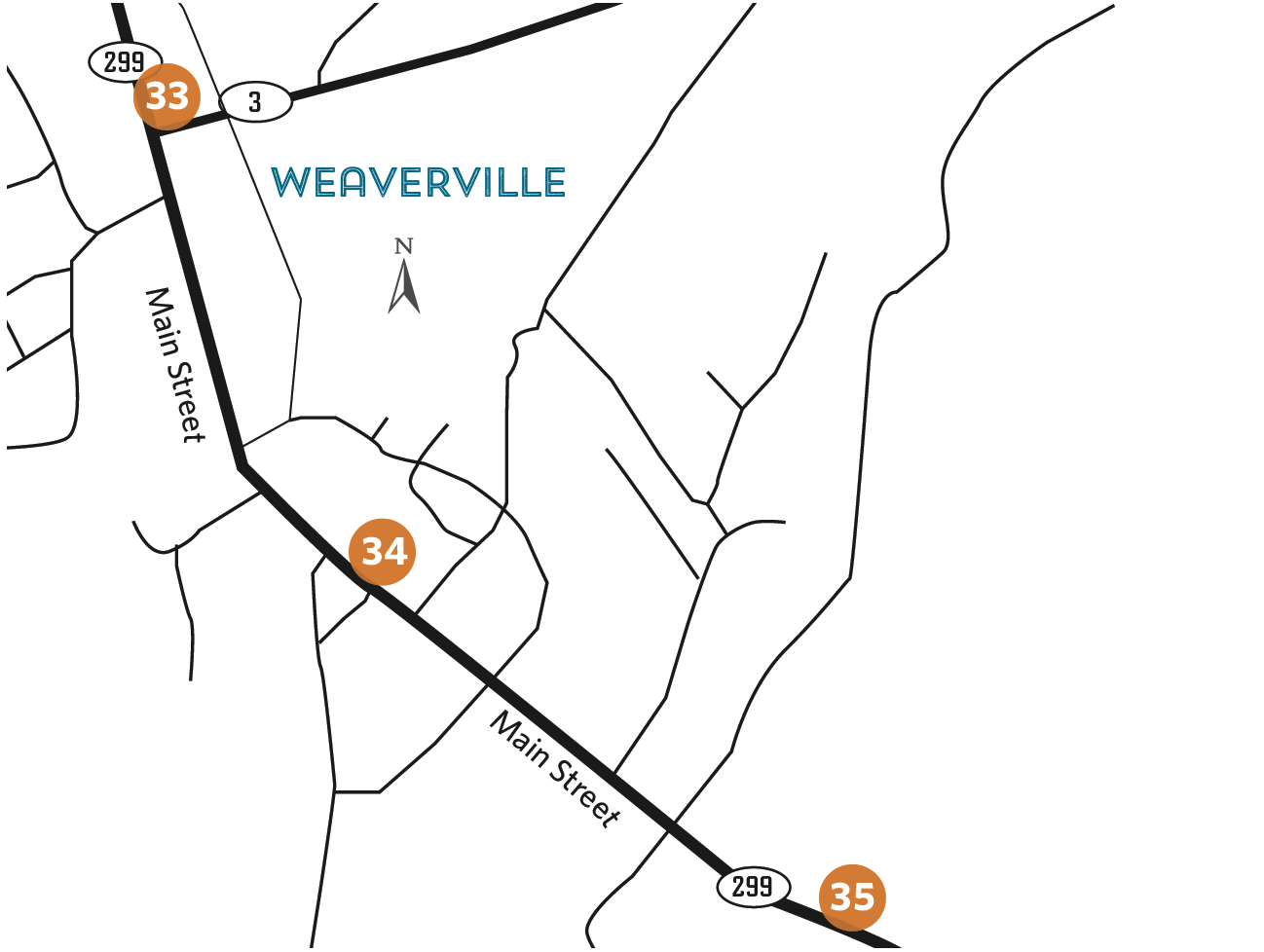 Location overview  - Weaverville
